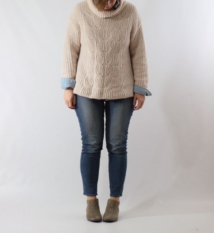 chunky knit and chambray 2