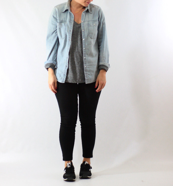 leggings and chambray 2
