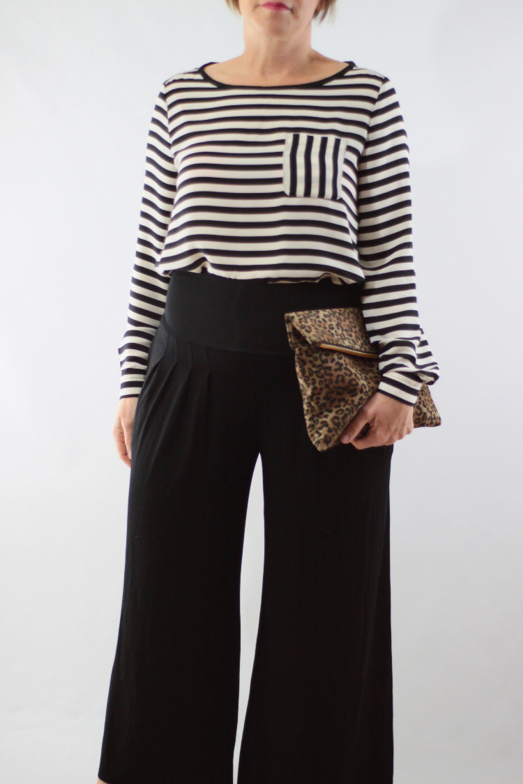 wide leg pants stripes 2
