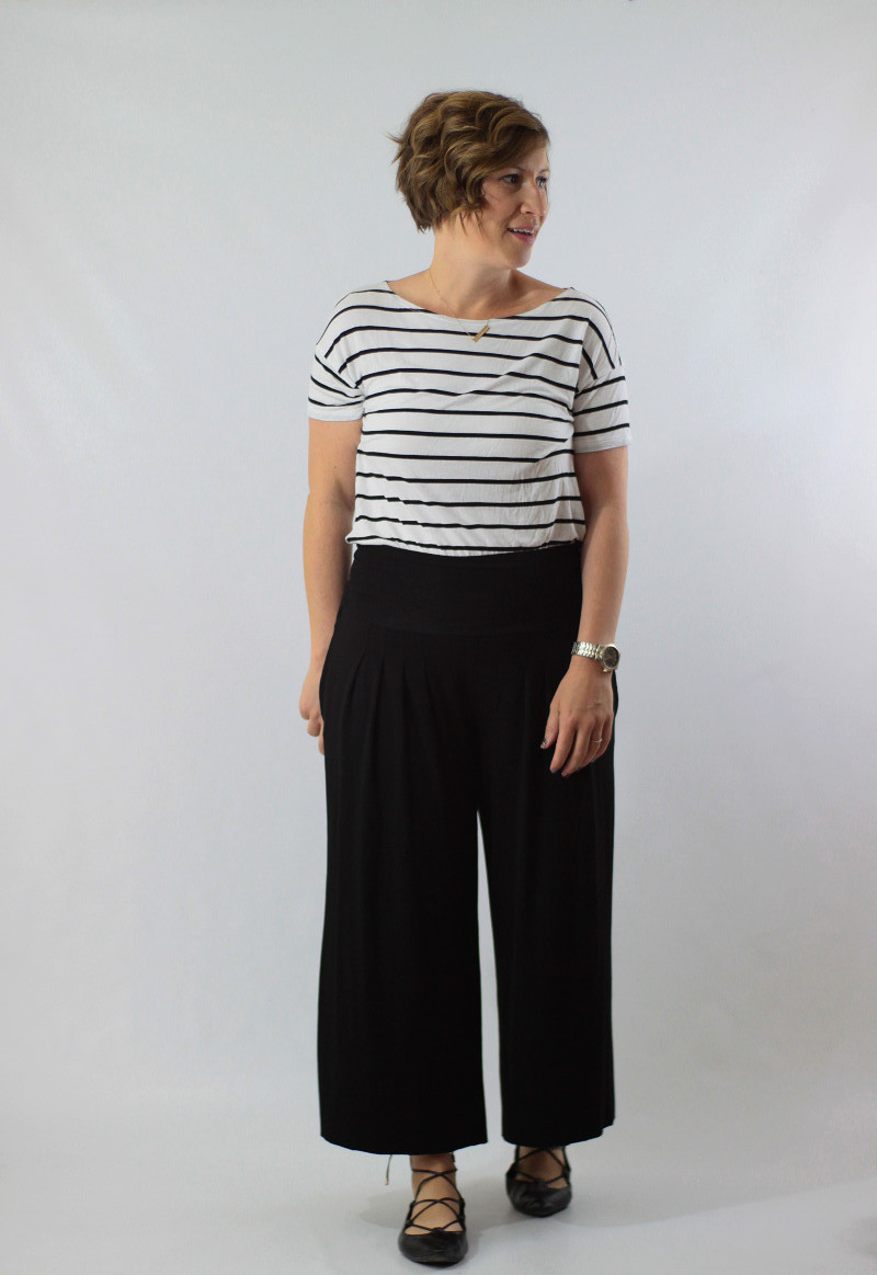 wide leg and stripes