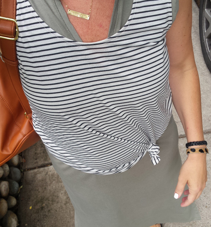 tank layered over maxi dress travel capsule