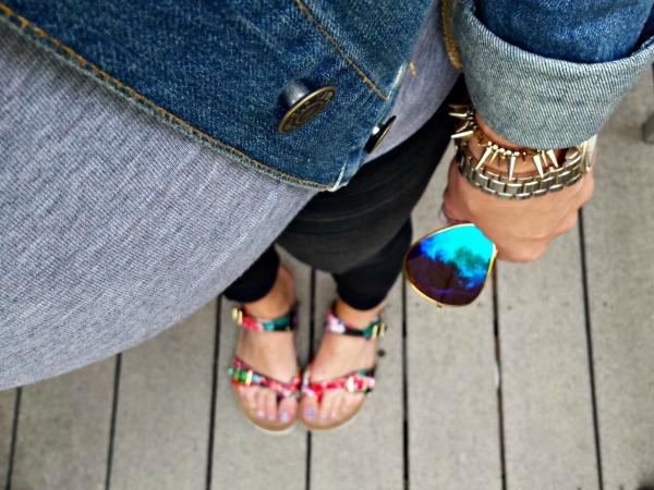 floral footbed sandals