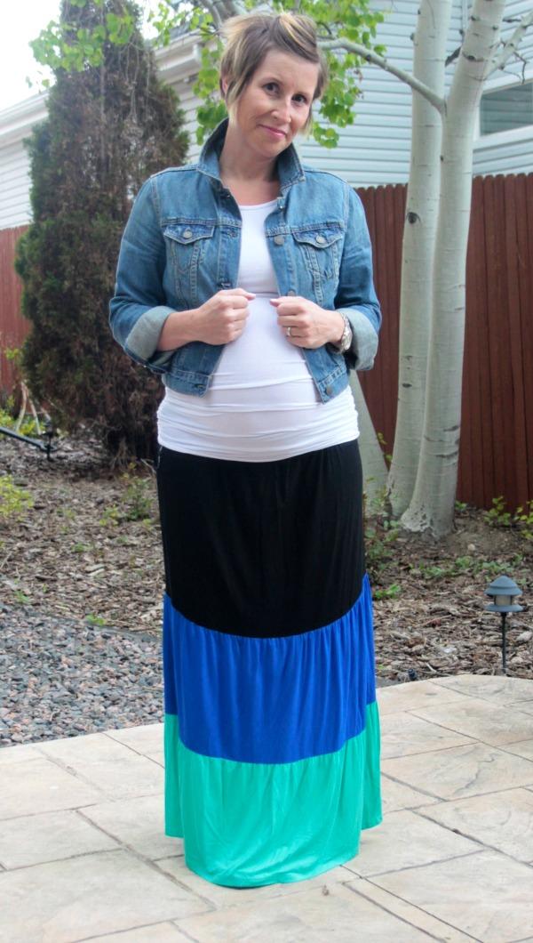 maxi skirt work