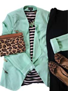 mint and leopard