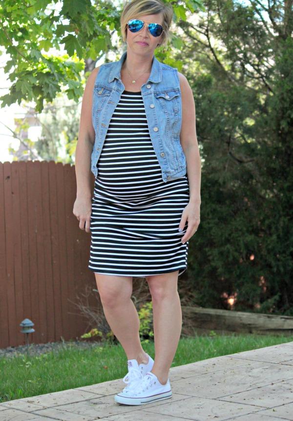 striped dress chucks