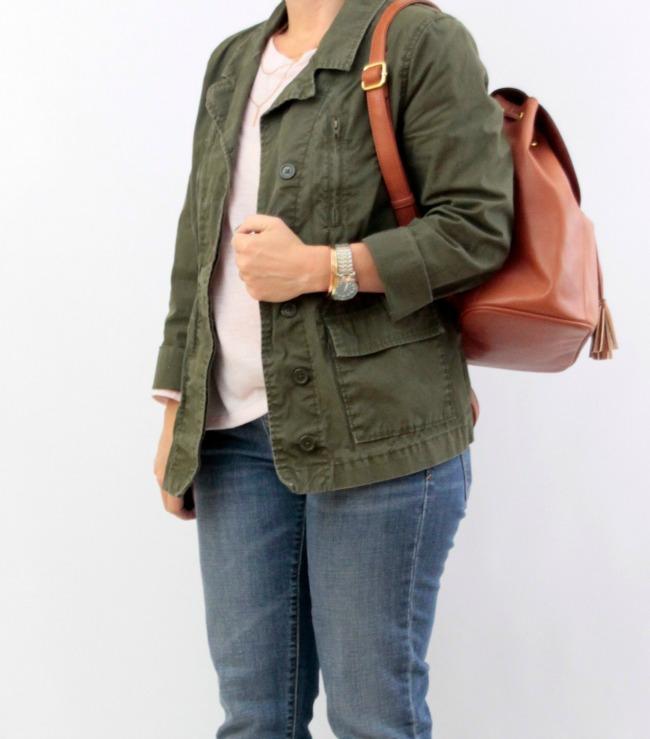 bootcut jeans utility jacket 32