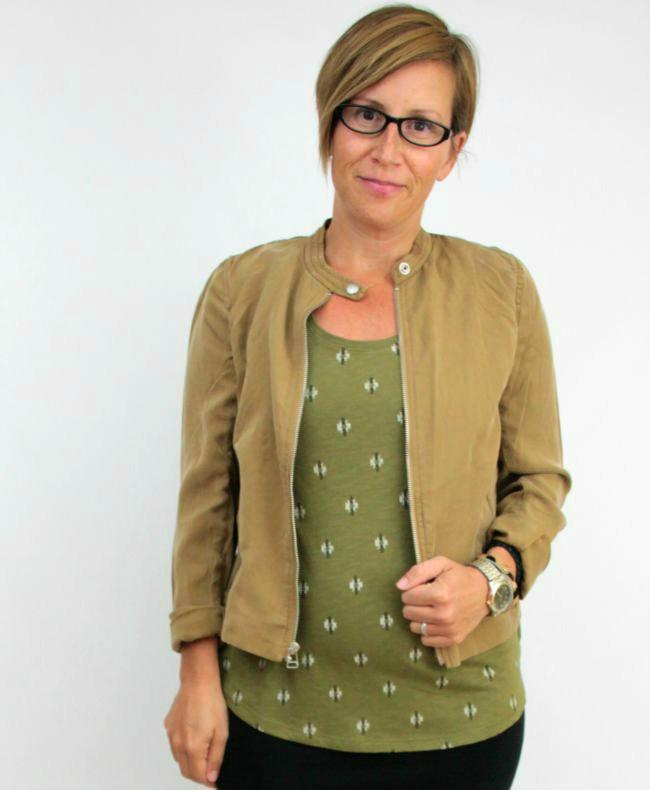 olive, camel jacket, pencil skirt 3