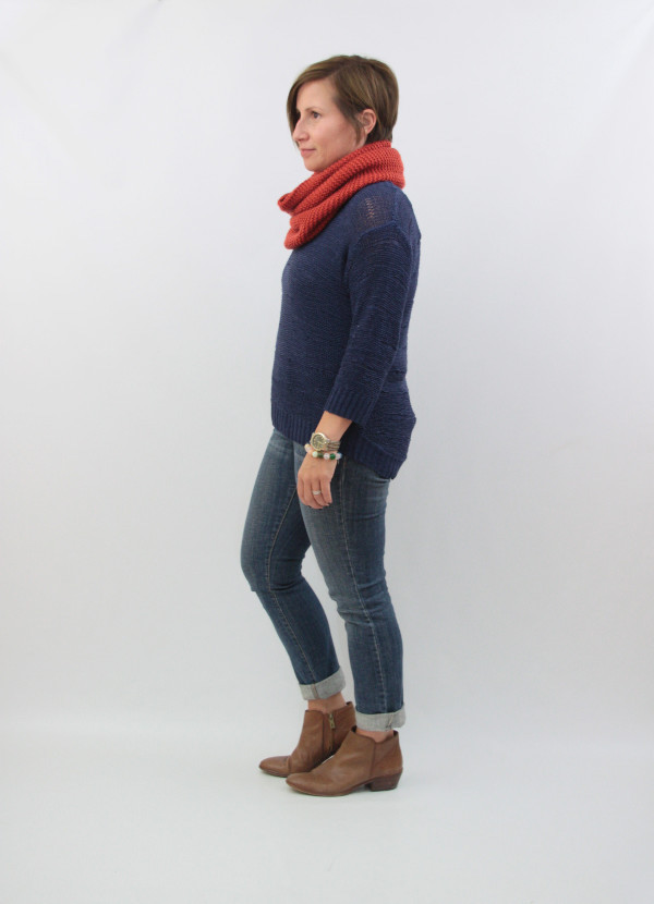 navy and rust knits 1