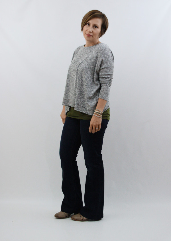 bootcut jeans and sweater 1