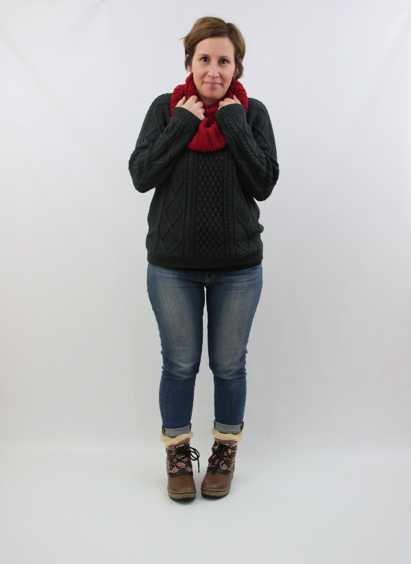 chunky knits and boots 2
