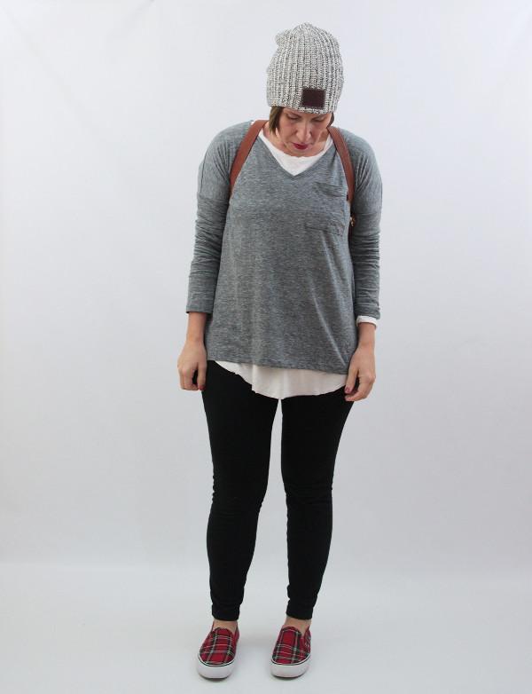 mom style beanie and leggings 2