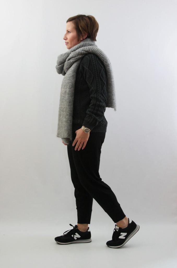 cozy gray knits long zara scarf