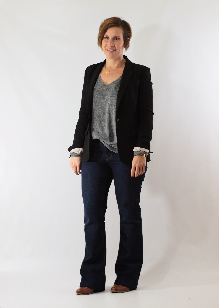 blazer and bootcut jeans 2