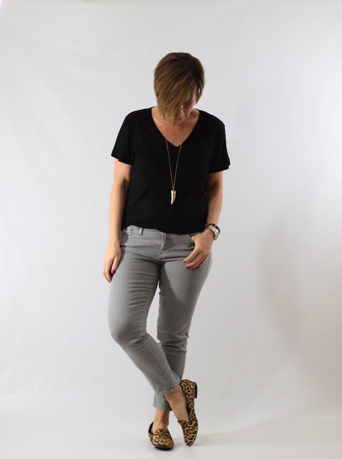 gray jeans black tee 2