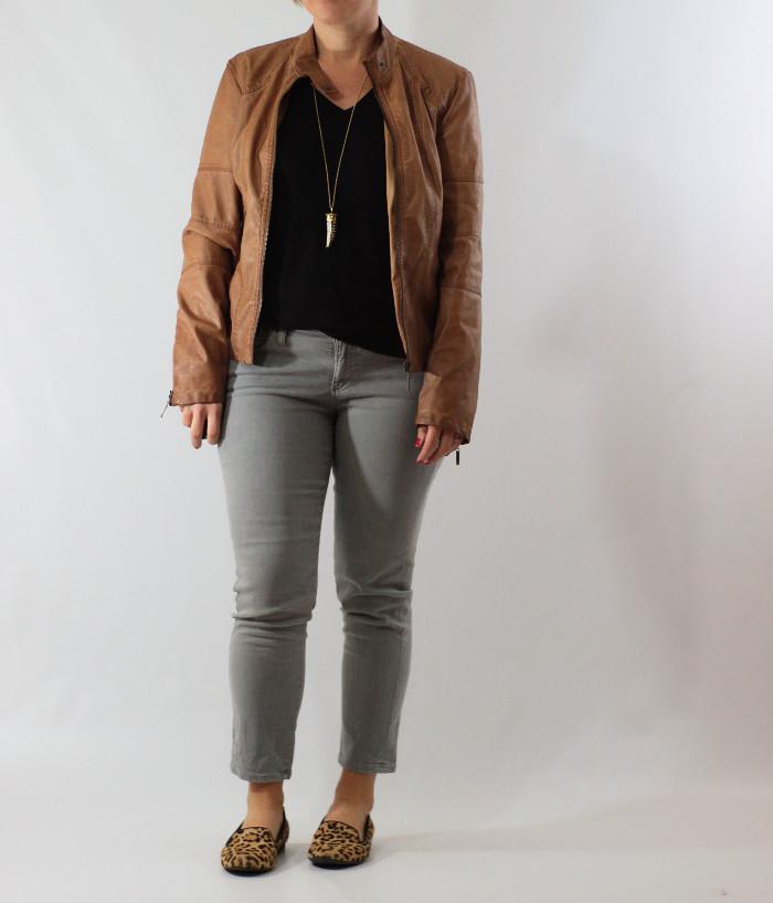 gray jeans black tee 5