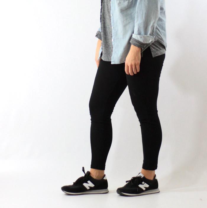 leggings and chambray 3
