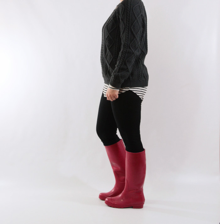 red rainboots and stripes 2