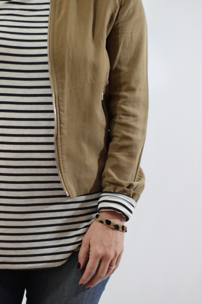 striped tee and jacket 1