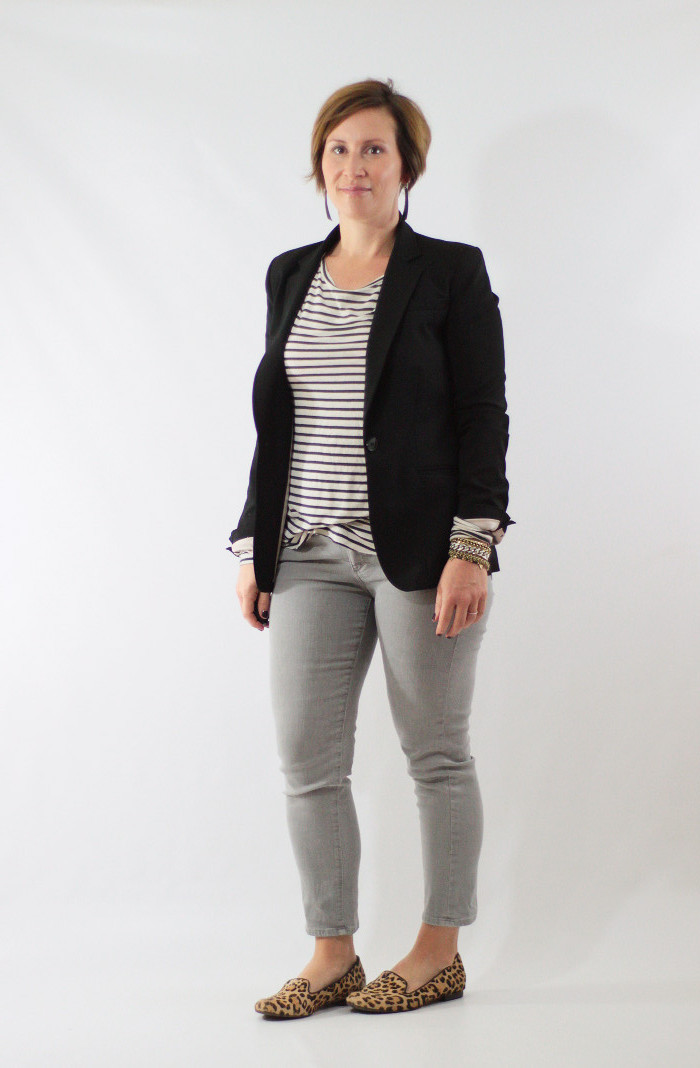 gray jeans and blazer 1