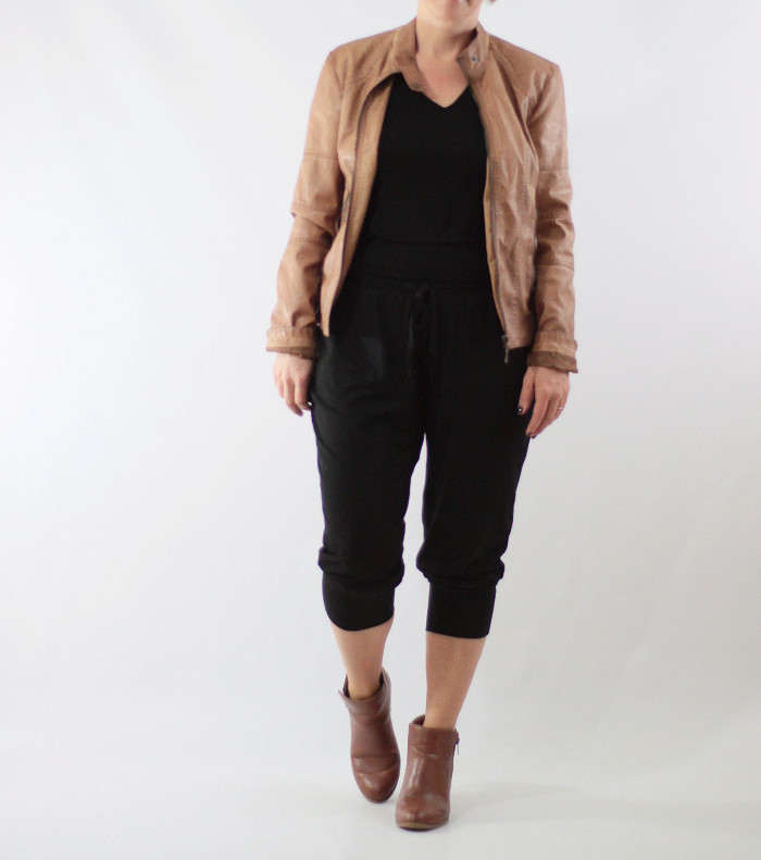joggers and faux leather 4