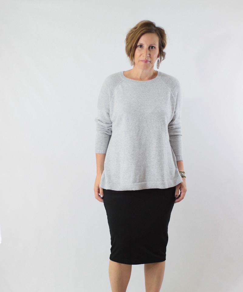 midi skirt and sweater 3