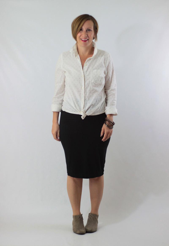 polka dot shirt and skirt 1