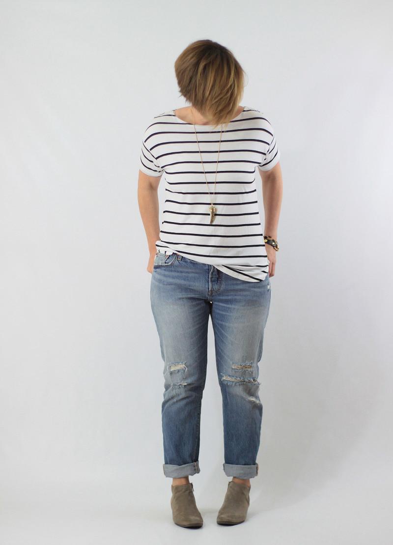 striped tee boyfriend jeans 2