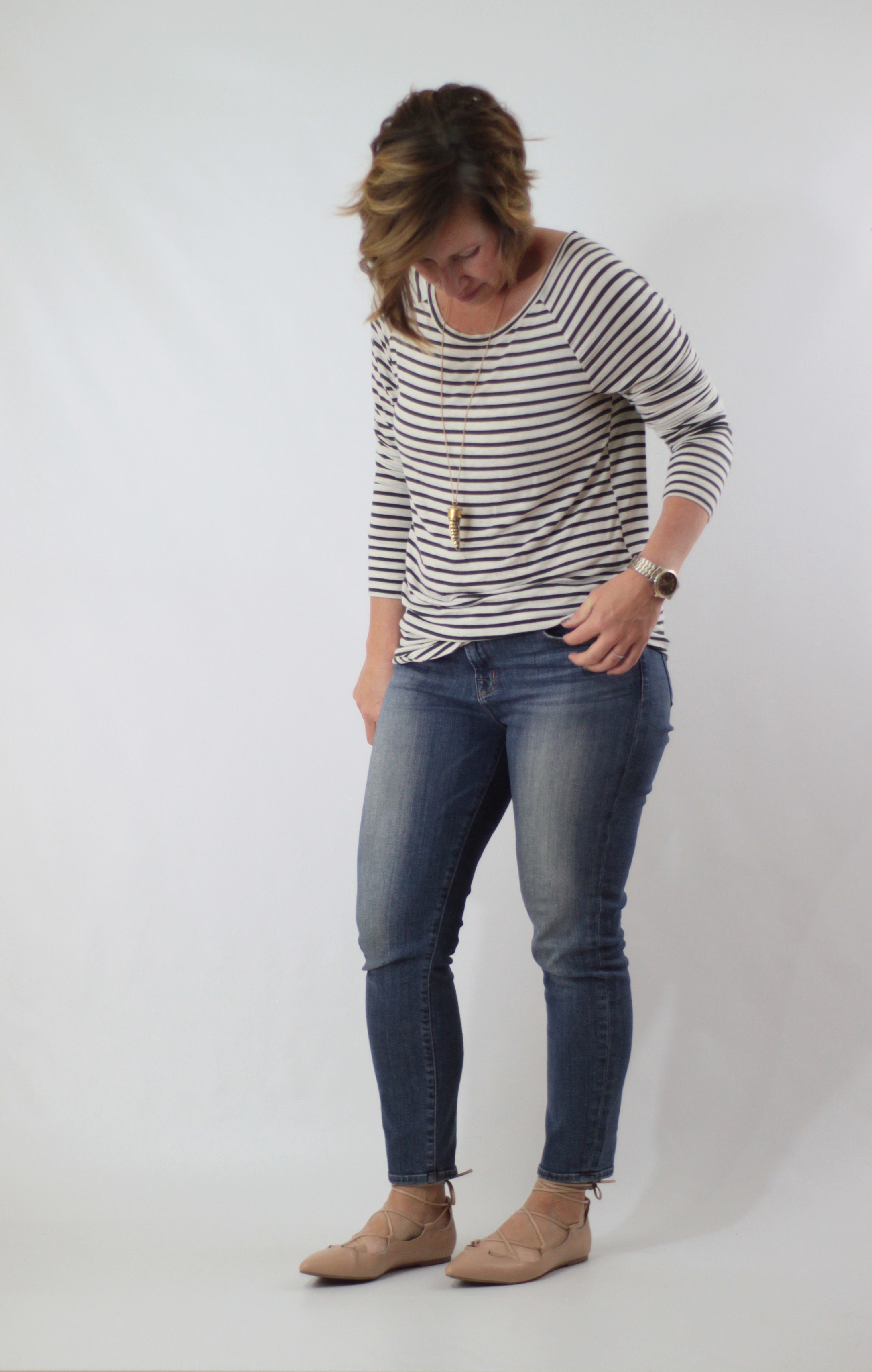 lace up flats and stripes 2