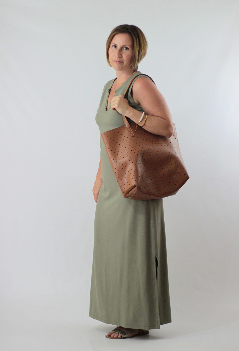muted green maxi dress