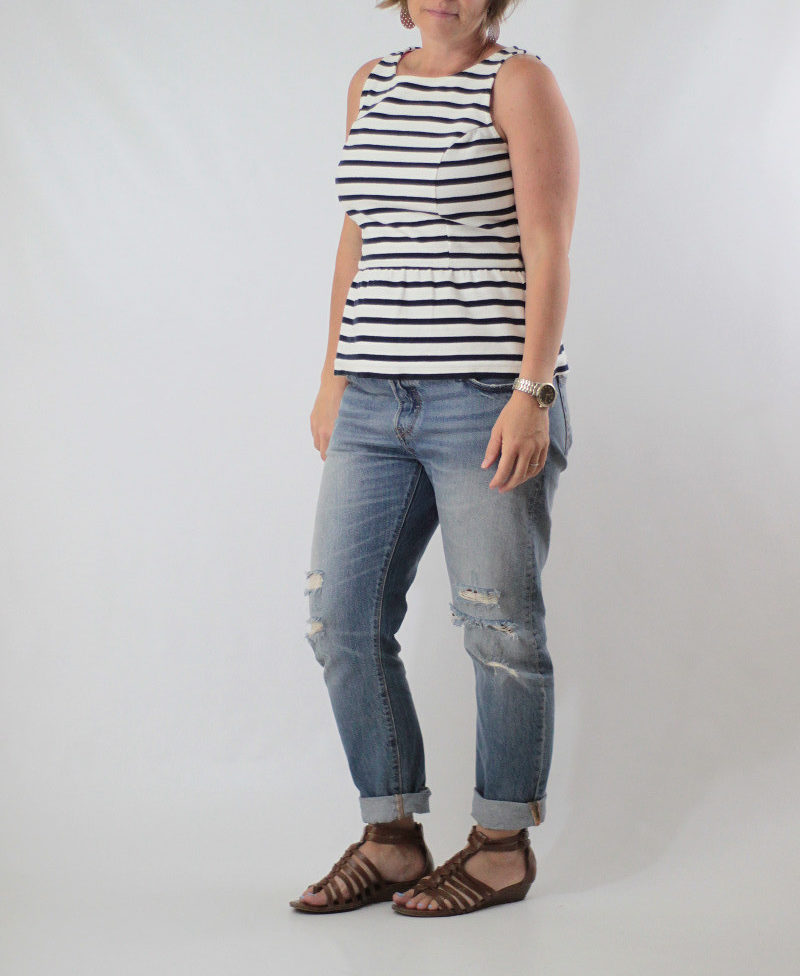 distressed jeans and peplum 2
