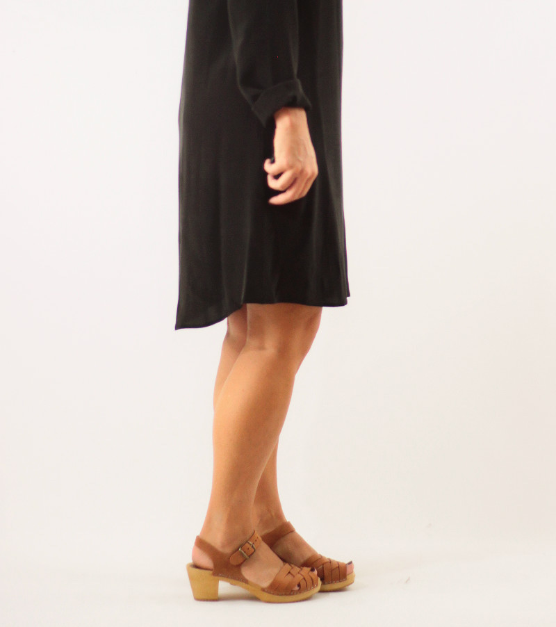 silk-dress-and-betty-clogs