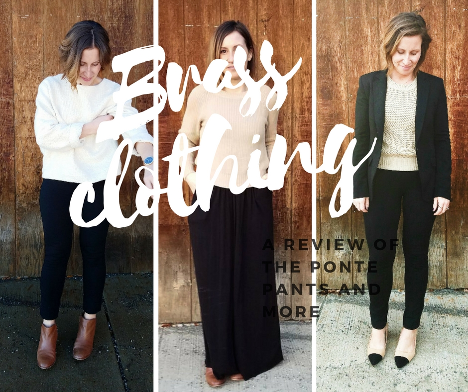 c054cbf21a94e Brass Clothing: Ponte Pants Review (and more) - Style This Life