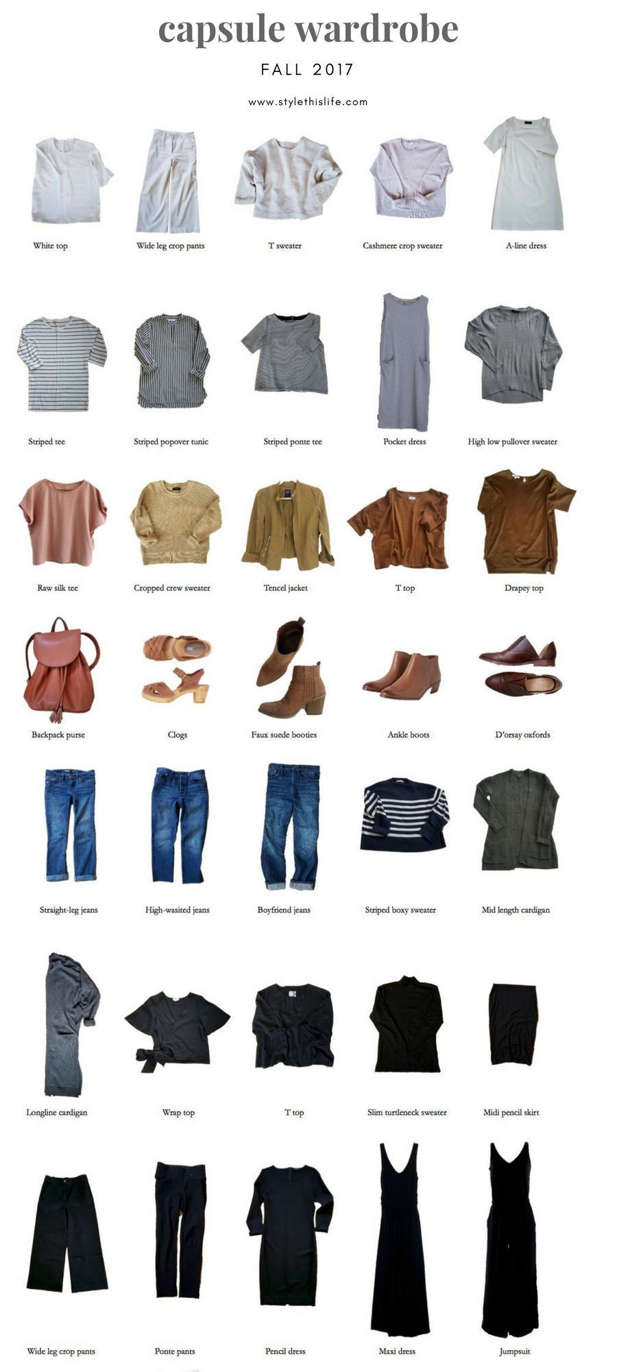 fall capsule wardrobe minimal closet
