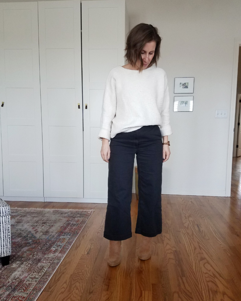 jamie and the jones T Sweater everlane wide leg crops