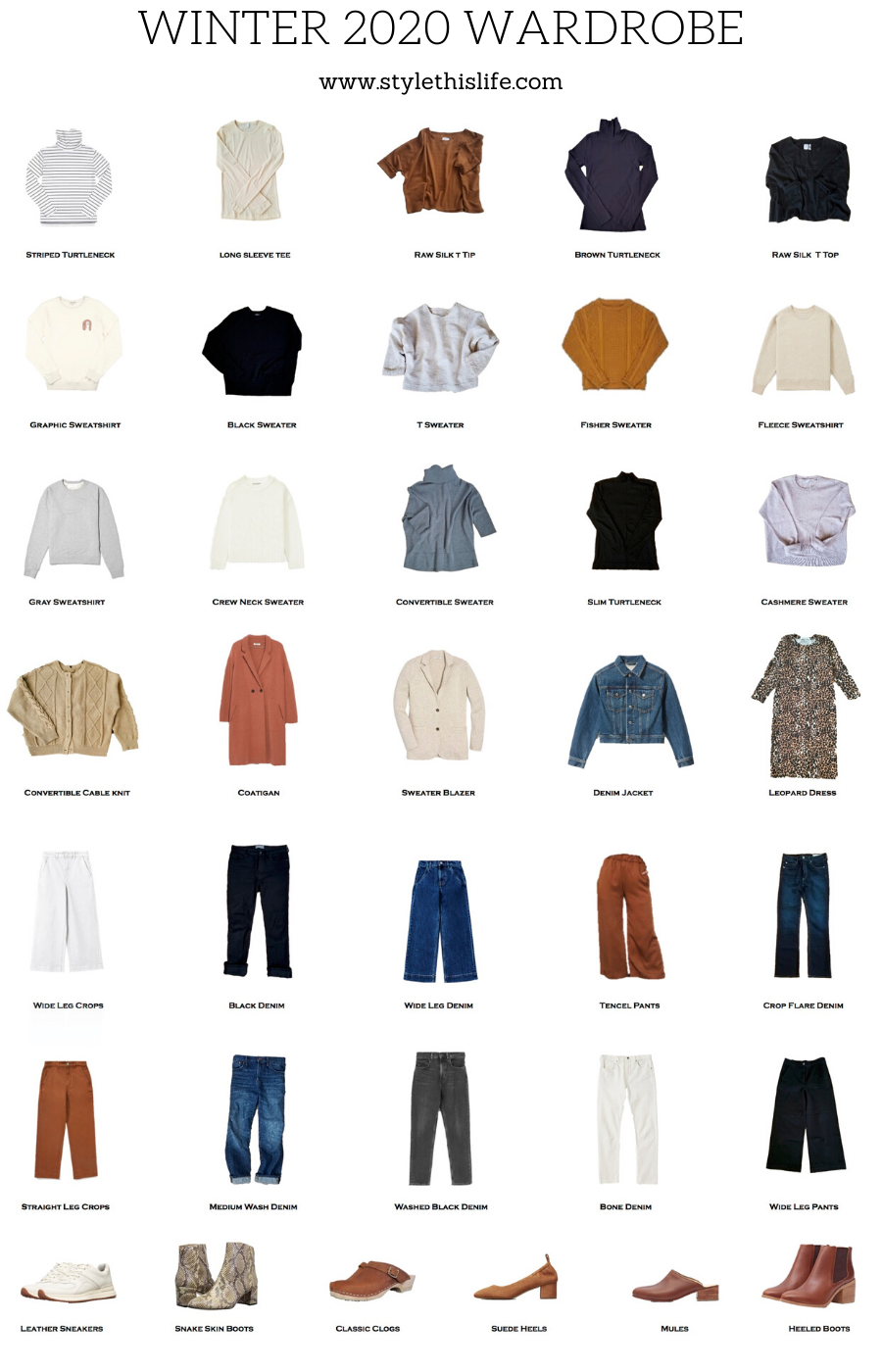 winter 2020 capsule wardrobe